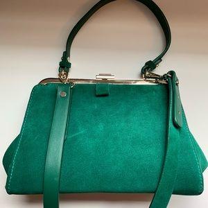 Zara Emerald Greed crossbody purse
